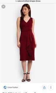 Red Drape Dress Semi Formal