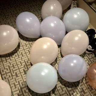 Pastel Balloons (45 pieces) with pump