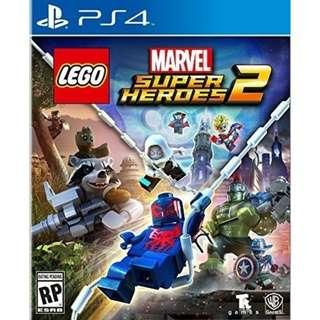 🚚 PS4 Game LEGO Marvel Superheroes 2 (Brand New Sealed)