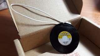 Miniature Vinyl Record Keychain