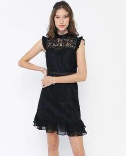 Osmose Black lace 86044 Dress in XS