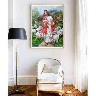 Christmas Biblical Shepherd painting