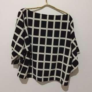Blouse Black&White All Size