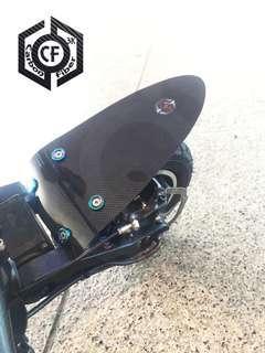 60g Custom 3K Carbon Fiber Matte / Glossy Ultra Light Shock Resistant Mudguard for Dualtron