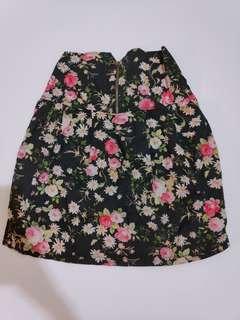 Rok flower pattern floral shabby chic summer skirt hi waist