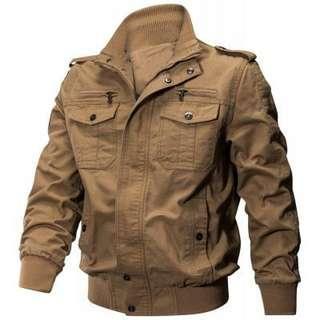 Autumn Cotton Casual Men's Jacket - OAK BROWN