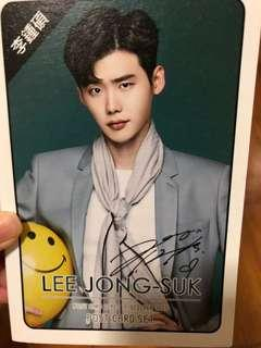 kpop lee jongsuk postcard set