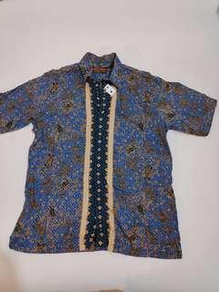 Batik Pria Biru