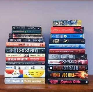 BOOKS CLEARING OUT SALE (Fantasy, Biography, Literary, Horror, etc.)