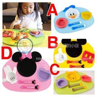 日本製迪士尼餐盤連餐具套裝