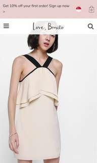 Dawna Contrast Ruffle Dress