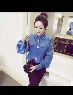 Denim Shirt   kemeja denim kemeja jeans biru kemeja kerja kantor baju kantor