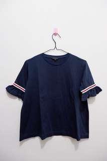 The Executive Blouse Navy Blue Ruffle   baju executive asli original baju kerja baju formal baju daily