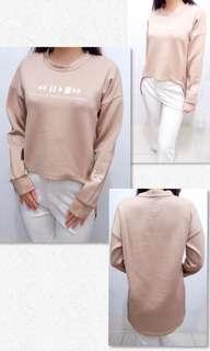 Brown Blouse   baju lengan panjang long sleeve atasan daily baju wanita murah baju cewek murah