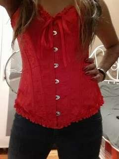 XS/S Corset with adjustable lace back