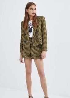 Zara Houndstooth Jacket size Small