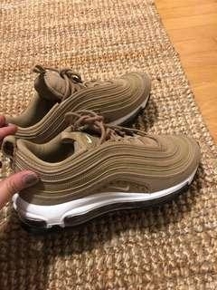 NIKE air max 97 nude size 6.5