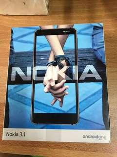 🚚 Nokia 3.1 全新未拆封Android手機