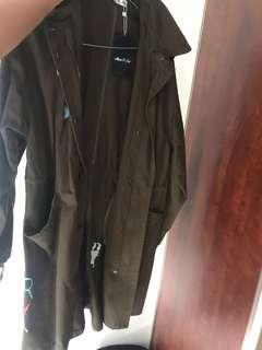 Long khaki jacket