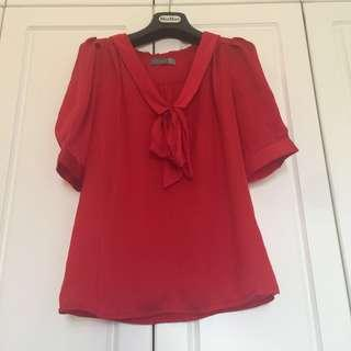 Forcast Red Silky top