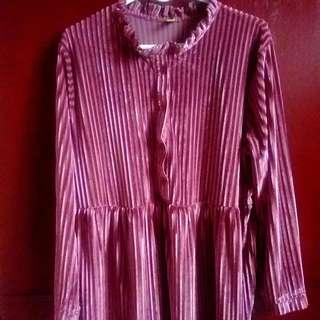 Soft Velvet Babydoll Dress