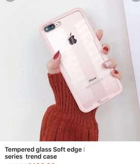 TEMPERED Glass Soft edge Iphone 7/8plus Series trend case