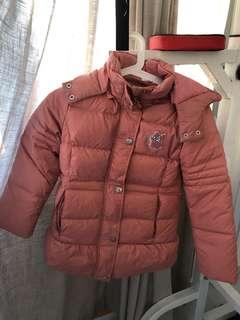 Down feathers winter jacket