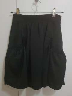 Black knee length skirt size 8