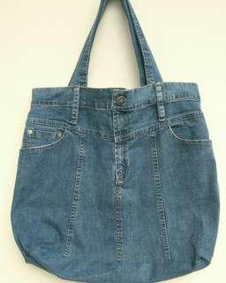 Tas Denim Tote Bag Jeans