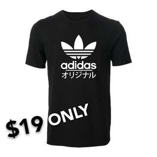 [Get Two @$35] Adidas Slim Fit Cotton T-shirt