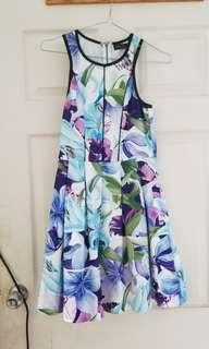 Ally Floral Party Cocktail Dress sz 8 XS