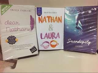 Dear Nathan, Serendipity dan Nathan & Laura (3 buku=60k)
