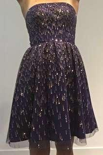 Purple Formal Adrianna Papell Dress