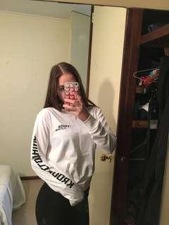 Krook Clothing white long sleeve tshirt