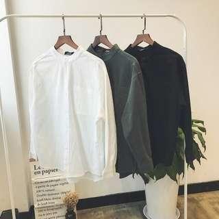 [Get Two @$25] Men's Cotton Linen Long Sleeve shirt