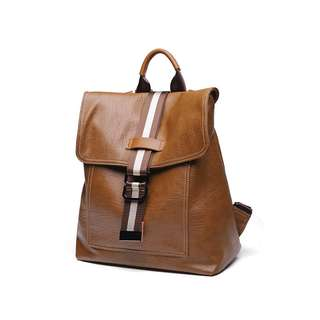 fcfd7b8841e4 Womens Brown Leather Backpack