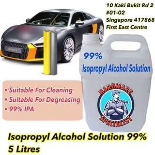 Isopropyl Alcohol Disinfectant IPA 99% 5 Litres