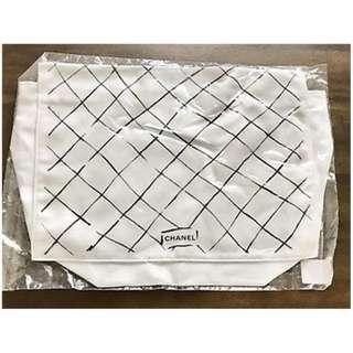 New Chanel Classic White Dust Bag ICOT3