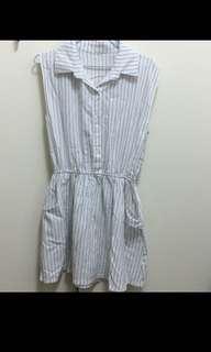 🚚 無袖棉麻洋裝