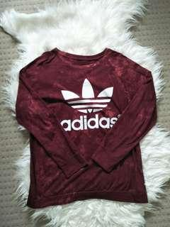 Replica Adidas Red Sweater thin Size M