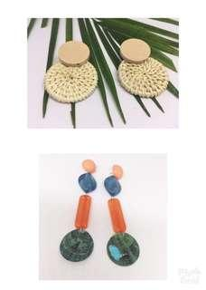 TAKE ALL  FREE ONGKIR (jabodetabek) 2 set fashionable earrings