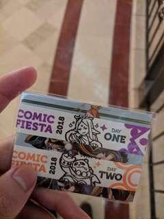 Comic fiesta 2018 early bird ticket for day 2 only