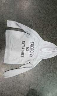 Ally size S grey hoodie