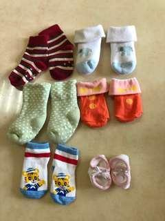 🚚 新生兒襪子0-3