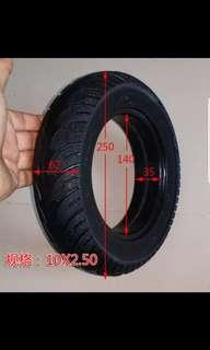"""Solid E Scooter tyre 10"""""""