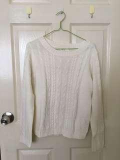 Knitted Sweater in Broken White