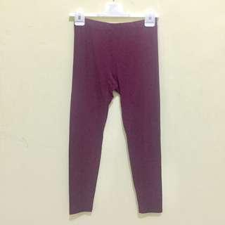 Uniqlo Heattech Extra Warm Legging Maroon