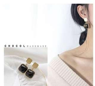 [NEW] Korean Vintage Marble Collection Earring Jewelry Accessories Women Earrings Gift