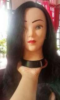 Mannequin head with mix human hair & fiber