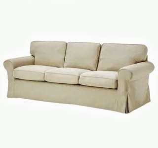 Beige sofa couch